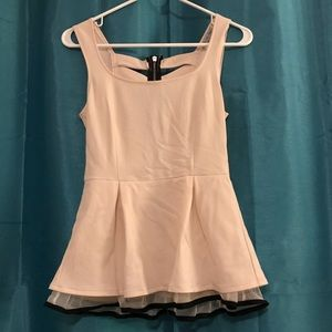 Peplum Top with Strappy Back
